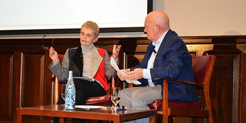 Professor Cheryl Saunders with Jonathon Green
