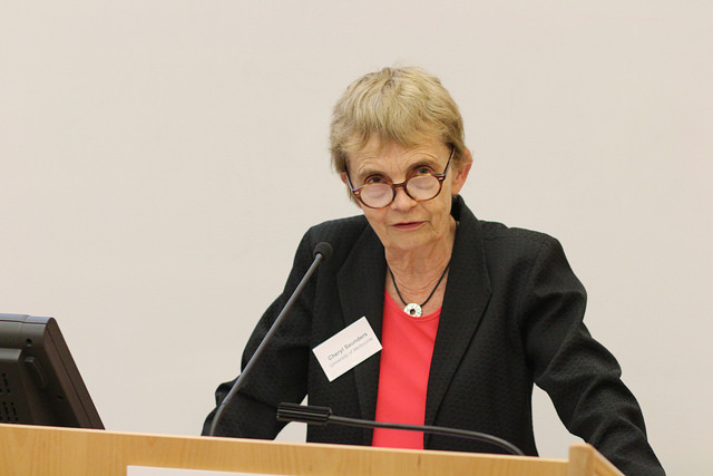 Cheryl Saunders presenting at public law conference