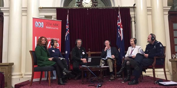Jon Faine facilitates a panel on family violence