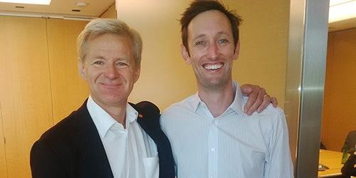 Andrew Hudson with Jan Egeland