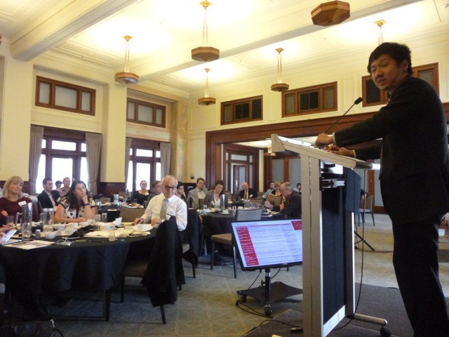 Thomas Ho presenting at the conference