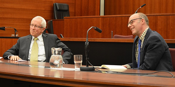 The Hon Justice Christopher Jessup with Professor Neil Duxbury