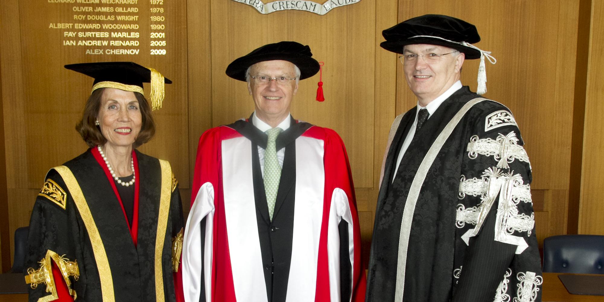 Elizabeth A Alexander AM, Chancellor The Hon. Alex Chernov AC QC and Professor Glyn Davis AC