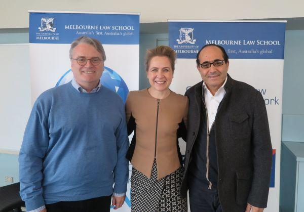 Mark Williams, Caron Beaton-Wells and Hassan Qaqaya