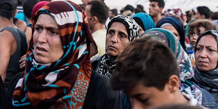 Crowds of women, Lesbos