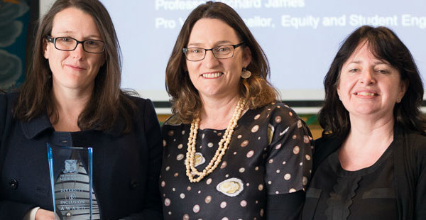 Lucy Quinn and Joanne Kerr with Catherine Reid