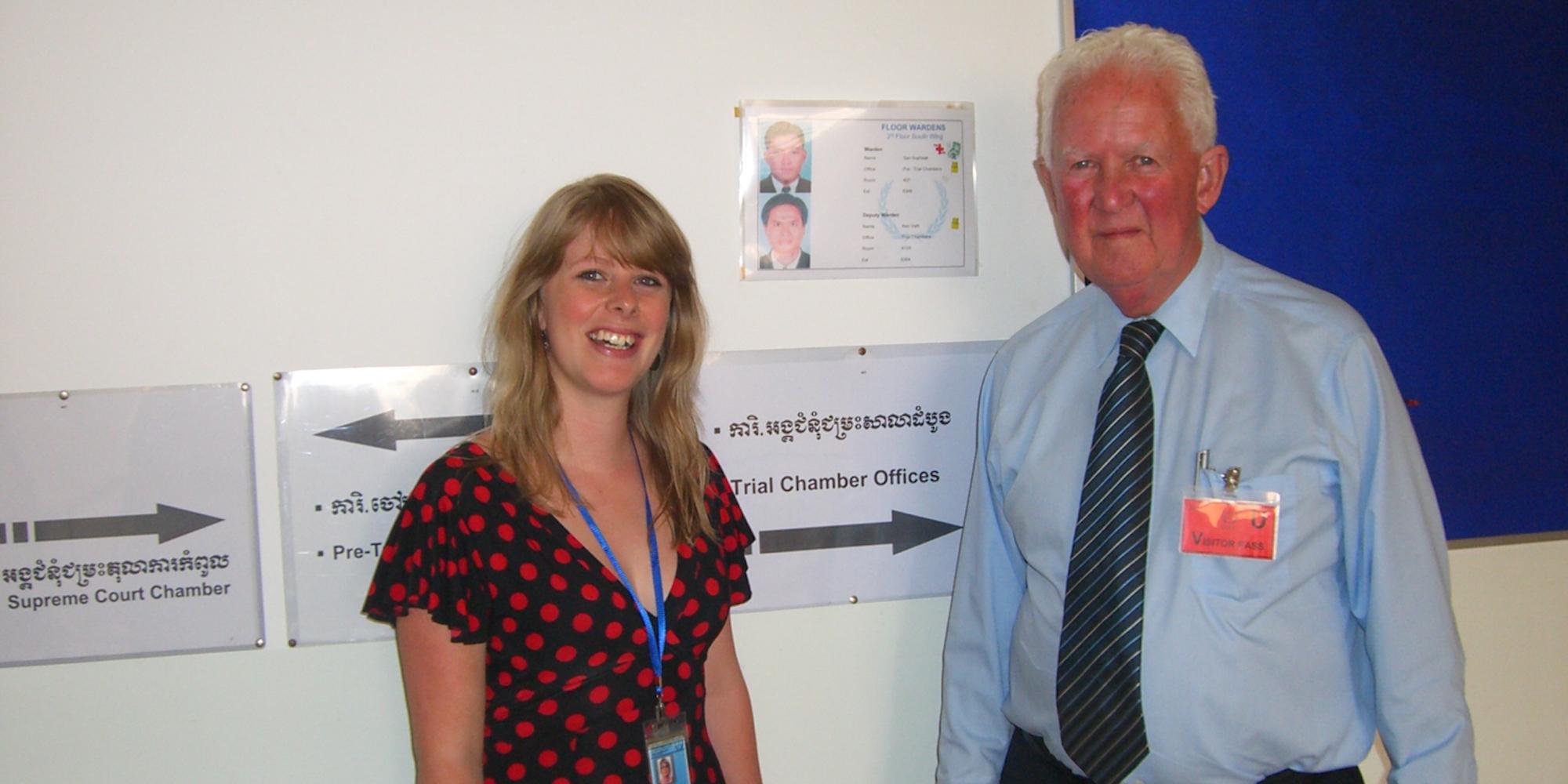 Heidi Edwards and The Hon Alastair Nicholson AO RFD QC