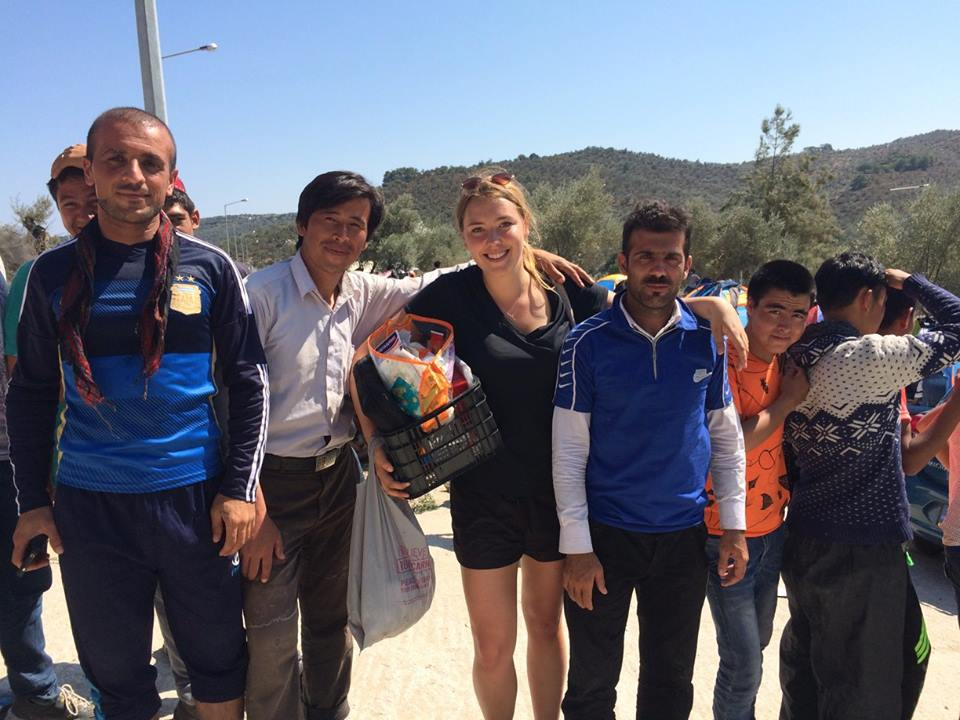 Sophie Parr in Lesvos, Greece