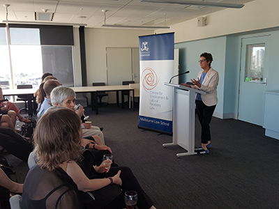 Beth Gaze speaking at Book launch
