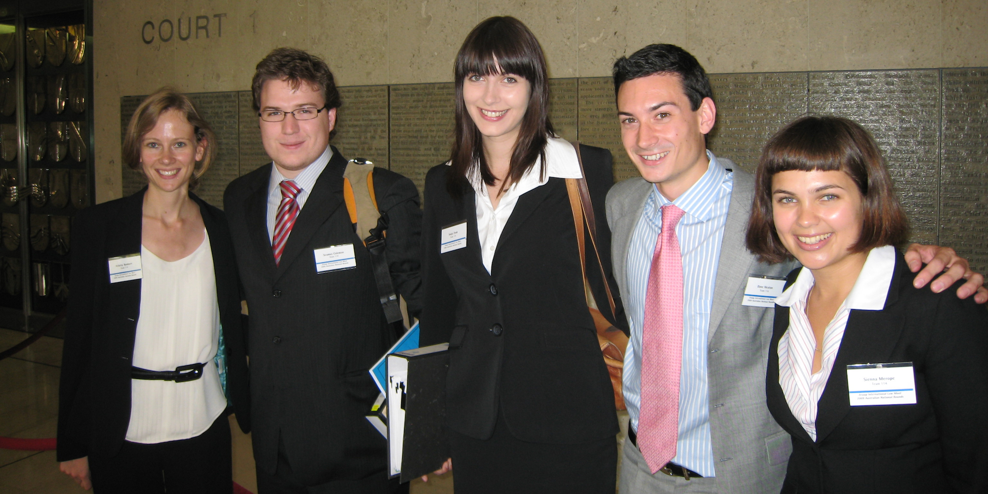 The Jessup moot team