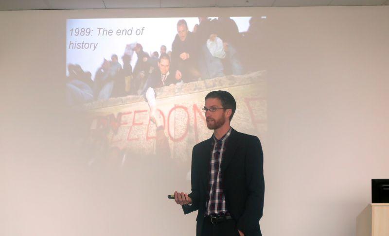 Associate Professor Tim Kuhner presenting