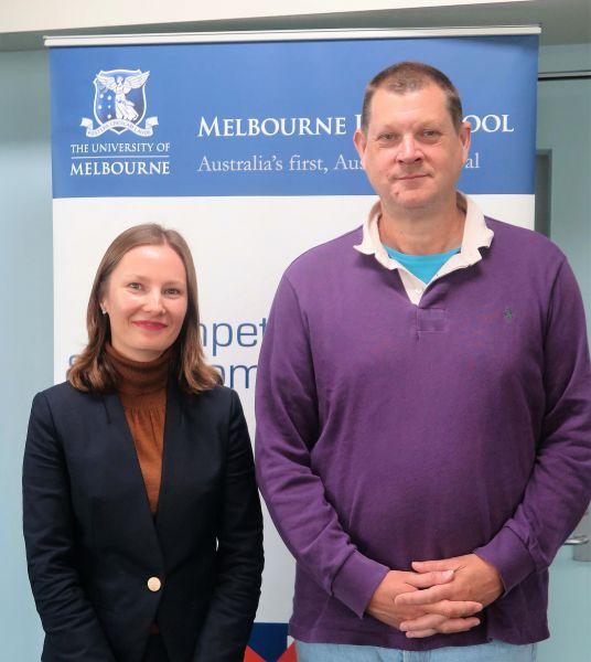 Dr Barbora Jedlickova and Mark Furse