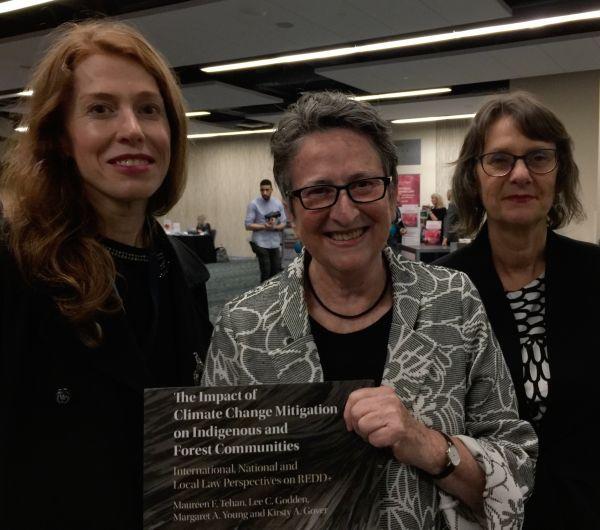 Professor Kirsty Gover, Associate Professor Maureen Tehan and Professor Lee Godden