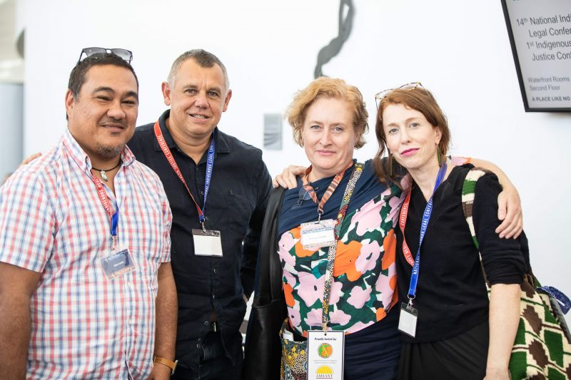 Eddie Cubillo, Tony McAvoy, Mary Spiers-Williams, Kirsty Gover at NILC 2019
